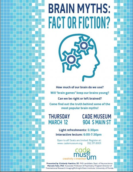 Cade Brain Myth Lecture Flyer