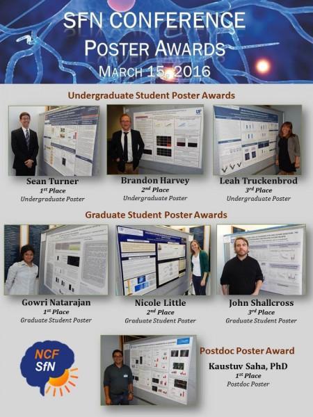 Poster awards at SfN March 2016